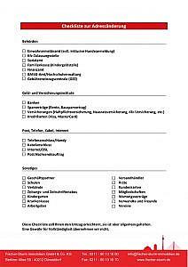 Checkliste Adressanderung