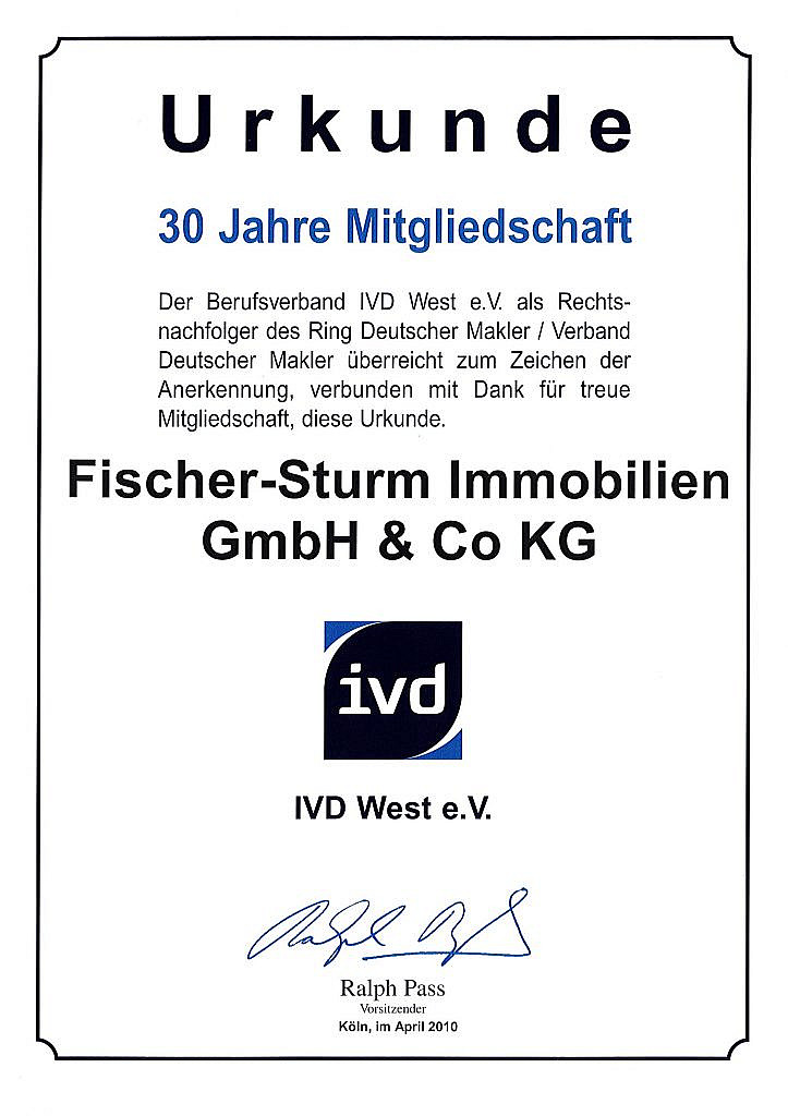 Urkunde IVD